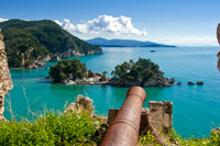 Cannon in the castle of Parga
