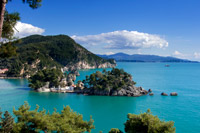 The islet of Virgin Mary in Parga